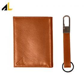 کیف پول چرم جیبی همراه جا کلیدی کد ALM049