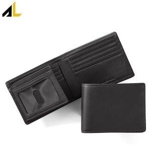 نمونه ی کیف پول دو تکه چرم سیاه