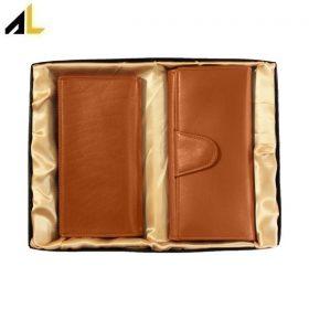 ست هدیه (کیف پول زنانه و مردانه) کد ALZ091