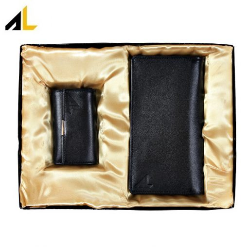 ست هدیه چرم (کیف پول جاکلیدی) کد ALM124